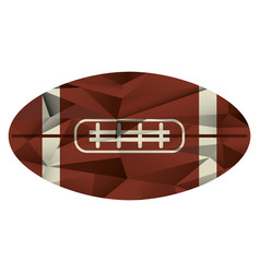 ball american football icon abstract vector image