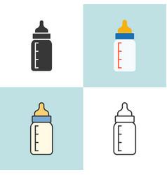 Bamilk bottle in various design vector