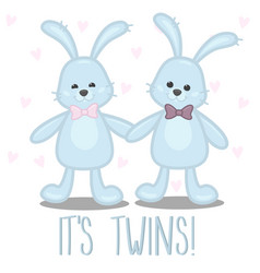 bashower card its boy twins vector image