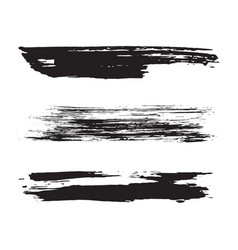 black paint brush strokes vector image