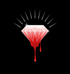 Blood diamond vector