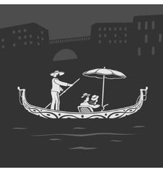 Boat Venice vector image