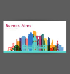 buenos aires colorful architecture vector image