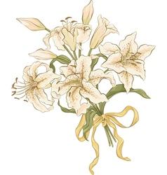 Bunch of lilies vector