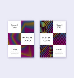 business cover design template set rainbow abstra vector image