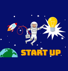 business development startup launch vector image