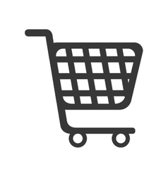 cart supermarket shopping vector image