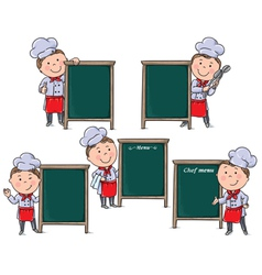 Chefs children with menu board vector