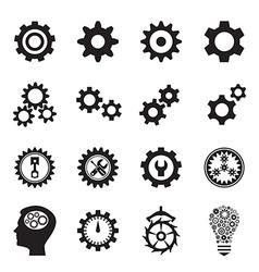 Cogwheel icons vector