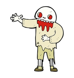 Comic cartoon spooky zombie vector
