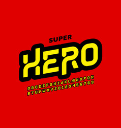Comics super hero style font design alphabet vector
