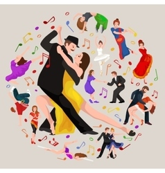 Dancing People Dancer Bachata Hiphop Salsa vector