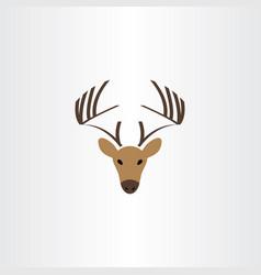 deer logo symbol icon vector image