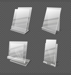 display tables transparent plastic sheets vector image