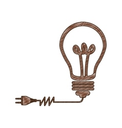 Eco friendly lightbulb icon image vector