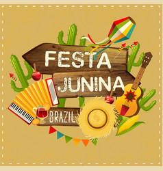 Festa junina traditional brazil june vector