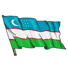 flag of Uzbekistan vector image