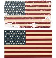 Flag usa in retro style vector