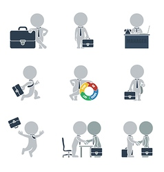Flat people business vector