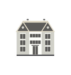 flat private house cottage building vector image