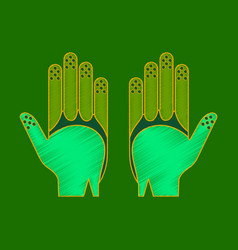 Flat shading style icon golf gloves vector