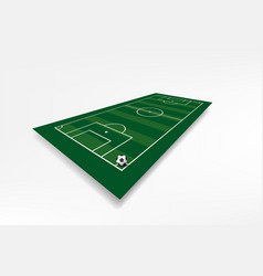 football field with vector image