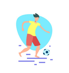 football player kick ball isolated sport beach vector image