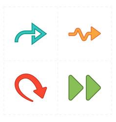 Four new simple arrows vector