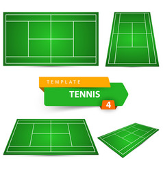 four tennis court template vector image