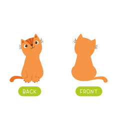 Funny educational word card for children vector