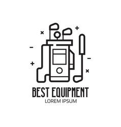 Golf club equipment icon vector