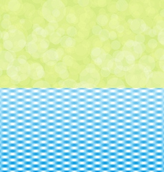 Green background boken and blue tablecloth vector
