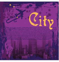 grunge city flyer vector image