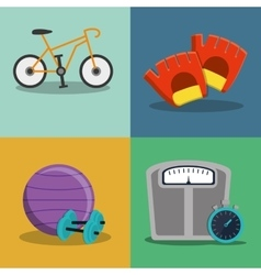 healthy lifestyle fitness design vector image