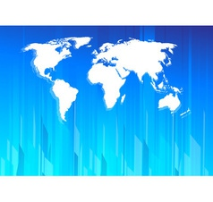 High tech earth map vector image