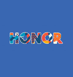 honor concept word art vector image