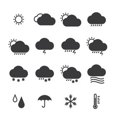 icon pack weather isolated background vector image