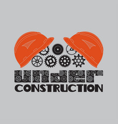 icon under construction helmet gear vector image