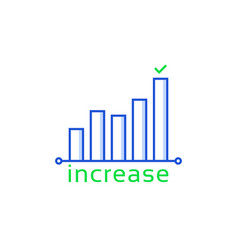 Increase or growth like insight icon vector