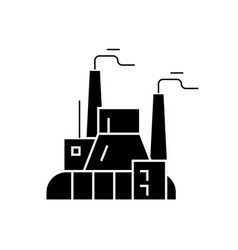 industrial factory power plant black vector image