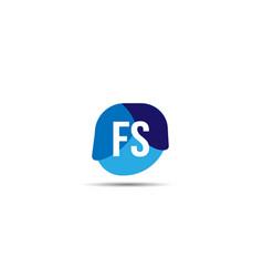 Initial letter fs logo template design vector