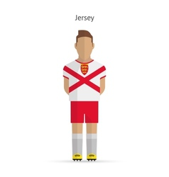 Jersey football player Soccer uniform vector