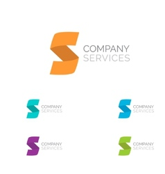 Letter S logo design template elements in vector image