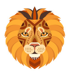Lion head logo decorative emblem vector