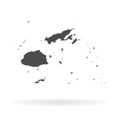 Map fiji isolated black on vector