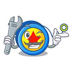 Mechanic yoyo mascot cartoon style vector