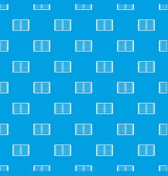 open spiral lined notebook pattern seamless blue vector image
