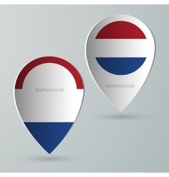 Paper of map marker for maps netherlands vector