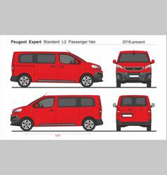 Peugeot expert pass standard van l2 2016-present vector