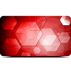 Red backdrop with hexagons texture vector image